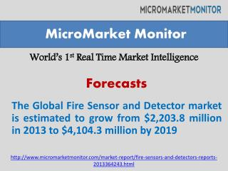 The Global Fire Sensor and Detector market is estimated to g