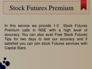 Stock Futures Premium