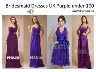 Aiven.co.uk purple bridesmaid dresses under 100