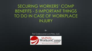 5 Important Things to Do in Case of Workplace Injury
