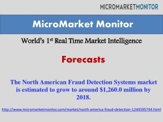 The North American Fraud Detection Systems market is estimat