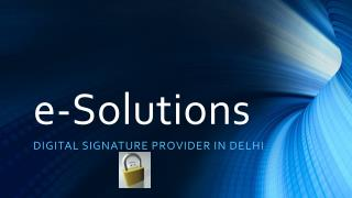 Digital Signature Certificate Provider in Delhi
