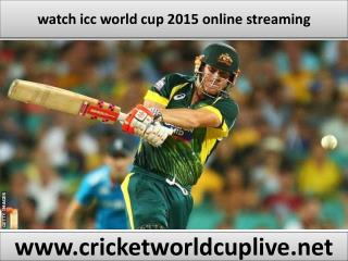 watch icc world cup 2015 online streaming