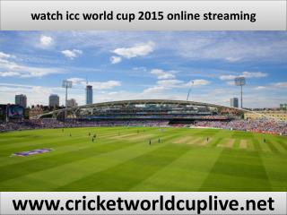 watch world cup 2015 live streaming
