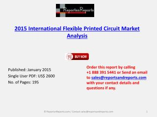 2015 Flexible Printed Circuit Sector– Global and China Techn