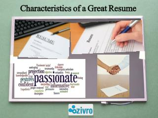 Characteristics of a Great Resume