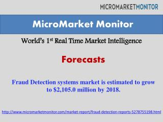 Fraud Detection systems market is estimated to grow to $2,10