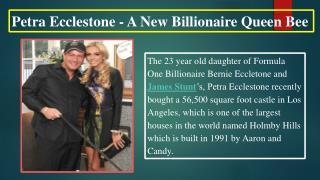 Petra Ecclestone - A New Billionaire Queen Bee