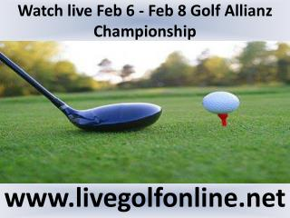 watch Allianz Championship Golf 2015 live