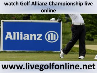 watch Allianz Championship Golf 2015 online live