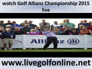 golf Allianz Championship Golf live broadcast