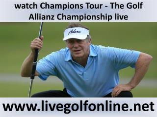 2015 Champions Tour Allianz Championship Golf live broadcast