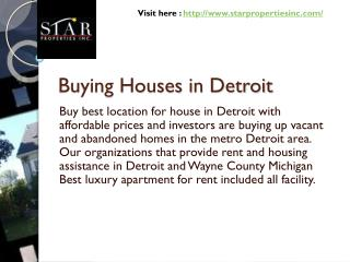 Buying Houses in Detroit