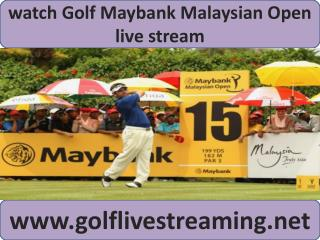 watch Maybank Malaysian Open Golf live