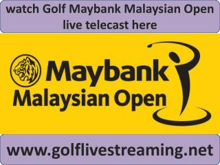2015 European Tour Maybank Malaysian Open Golf live coverage