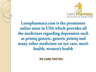 Buy pristiq online at low price from leonpharmacy.com