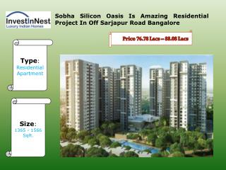 Sobha Silicon Oasis Is The Best Real Estate Project