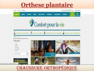 Orthese plantaire