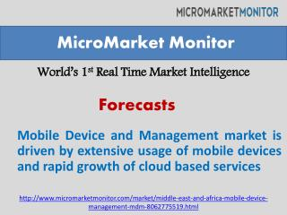 The Middle East and Africa Mobile Device and Management mark