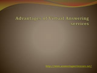Advantages of Virtual Answering services