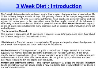 3 Week Diet System Reviews & Special Discount
