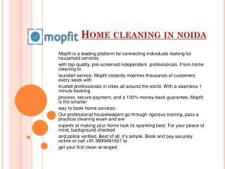 Home cleaning in noida