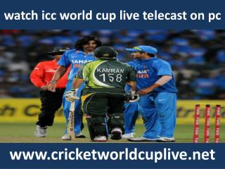 watch icc world cup 2015 cricket online