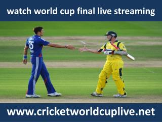 watch icc world cup live telecast