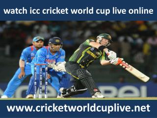 watch icc world cup live cricket
