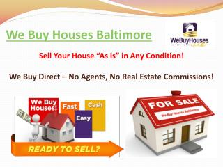 We Buy Houses Baltimore