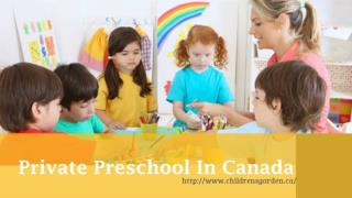 Private Preschool In Canada