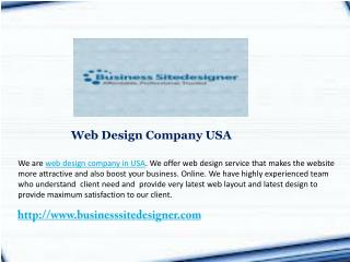 Web Design Company USA