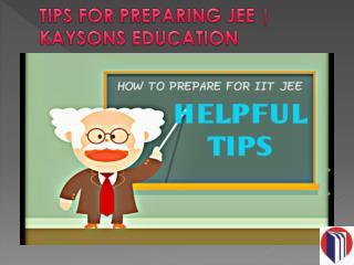 keysons education | tips for preparing jee
