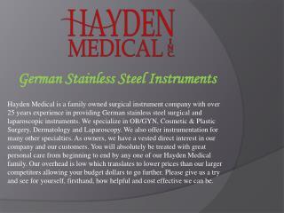 German Stainless Steel Instruments
