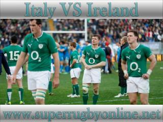 watch Italy vs Ireland 6 Nations rugby live stream