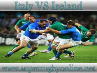 watch rugby Italy vs Ireland live online