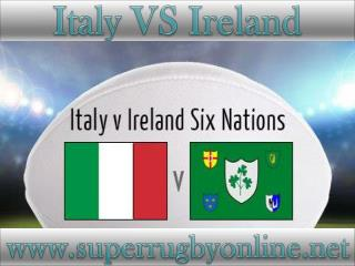 watch Italy vs Ireland live rugby