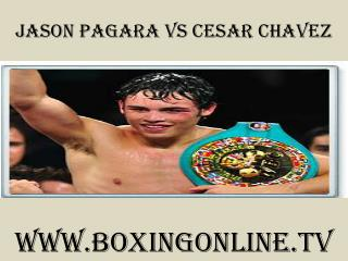 watch Jason Pagara vs Cesar Chavez online 7 February 2015 li