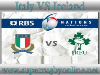 watch Ireland vs Italy 6 Nations rugby live stream