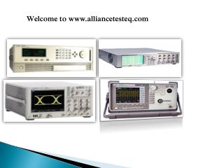 Reliable Electronics Equipments at Alliance Test