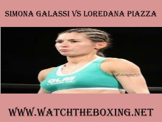 watch Simona Galassi vs Loredana Piazza 7 February 2015 onli