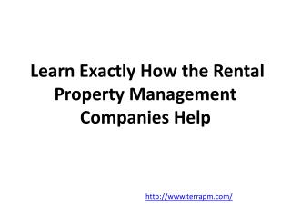 Learn Exactly How the Rental Property Management