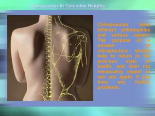 Chiropractor In Columbia Heights