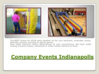 Event Rentals Indianapolis IN