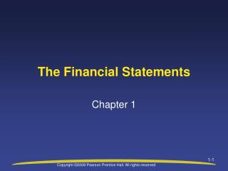 Chap 01 financial statement