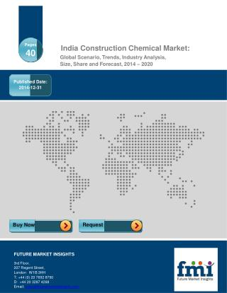 India Construction Chemical Market Analysis & Opportunity As