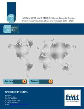 BRICS Oral Care Market Analysis & Opportunity Assessment, 20