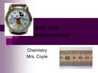Units and Measurement