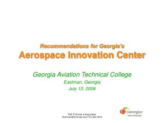 Recommendations for Georgia's Aerospace Innovation Center