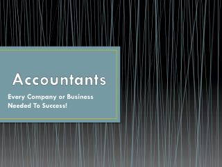 Accountants: Every Company or Business Needed To Success!